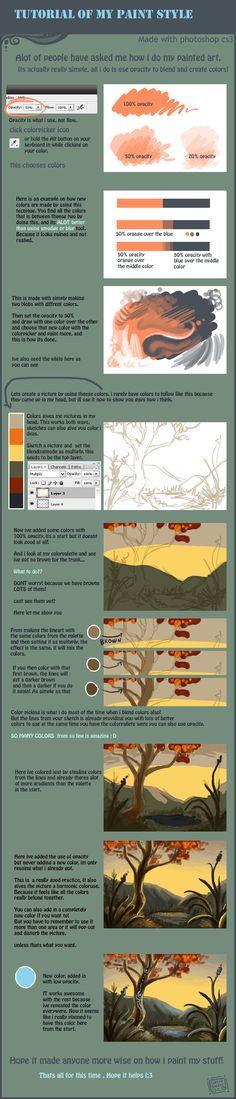 How I paint digitally tutorial by =griffsnuff