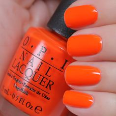 This summer go Neon or Go Nude with this Neon Nail Lacquer Collection! OPI invites you to indulge in the hottest trend for neons: pairing them with nudes! Orange Nail Polish, Opi Nail Polish, Orange Nails, Opi Nails, Manicures, Coffin Nails, Cute Nails, Pretty Nails, Opi Nail Colors