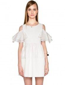 Babydoll White Organza Dress