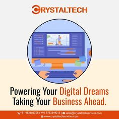 Are you trying to reach Your Business online?✅ Enhance your business Sales by implementing the right digital strategy for your business. We'll help you get there and grow. Hire us Now.📣 📣Reach Your Business Online For more info, we will provide you best Digital Marketing for your business. Sales E-mail:- sales@crystaltechservices.com Contact E-mail:- contact@crystaltechservices.com Whatsapp or Call:- +91 9826067554 +91 9753349215 Website:- www.crystaltechservices.com Business Sales, Online Business, It Service Provider, Digital Strategy, Digital Marketing, Website