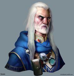 Ezren the wizard by maddekartist on DeviantArt