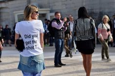 Did you get the shot? // street style