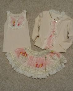 Excellent Condition Mustard Pie Set. Perfect for Easter!! Top and Cardigan are 24 Months. Skirt is 18 Months. Lace has slight wear which is typical for this brand.    Washed Cold/Delicate and Hung to Dry   SF/2 Kitty Home     Please look at my other items! Tons of high end girl clothing 18 months to 4t. Baby Boy clothes 6 months up to 12 months. THANKS!! | eBay!