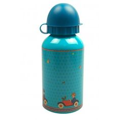 Kids gifts online - French Bazaar Cars Drink Bottle - $16.95 - For all car loving little boys & girls!    Super sweet and absolutely irresistible car vintage inspired print adorns this gorgeous kids drink bottle!  Guaranteed to delight this gorgeous Cars drink bottle is perfect to pop into school bags or take with you while out and about. Made from aluminium this deer drink bottle from French Bazaar is also BPA free.  Content:  350ML. Kids gifts online - French Bazaar. #Christmas…