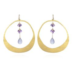 wendy mink - Gold Circle Drop Earrings