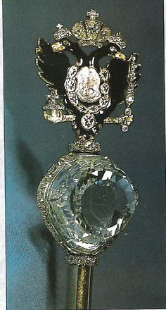 Imperial Crown Of Russia | the scepter with the orlov diamond