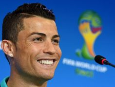 Portugal's forward Cristiano Ronaldo addresses a press conference at Arena Fonte Nova in Salvador on June 15, 2014 on the eve of the 2014 FIFA World Cup Brazil Group G football match against Germany.