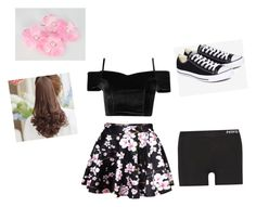 """Cute cherry blossom outfit"" by smilelykristenjoy on Polyvore featuring NIKE, Converse and Pin Show"