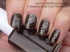 essie Little Brown Dress Stamping