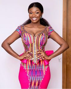 1 person, standing africanwear in 2019 robe africaine mariage, robes de mar African Fashion Ankara, Latest African Fashion Dresses, African Print Fashion, Africa Fashion, African Prints, African Wedding Attire, African Attire, Ghana Wedding Dress, African Prom Dresses