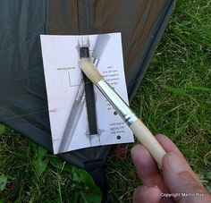 How to Seam Seal a Tent or Tarp by Martin Rye - http://sectionhiker.com/how-to-seam-seal-a-tent-or-tarp-by-martin-rye/
