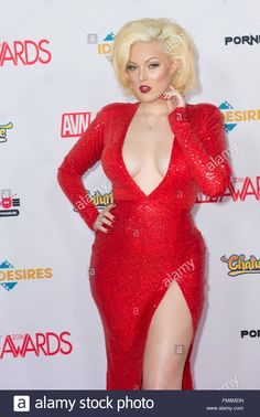 Adult film actress Jenna Ivory attends attends the 2016 Adult Video News Awards in Las Vegas Stock Photo