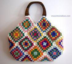 Crochet Baby Blanket Free Pattern, Crochet Square Patterns, Crochet Patterns For Beginners, Crochet Motif, Crochet Designs, Unique Crochet, Love Crochet, Crochet Handbags, Crochet Purses