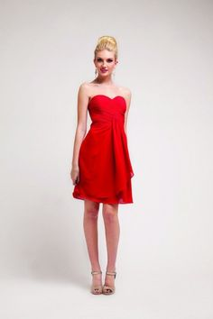 Plus Size Rouched Ruffle Strapless Short Sweetheart Neckline Formal Bridesmaid