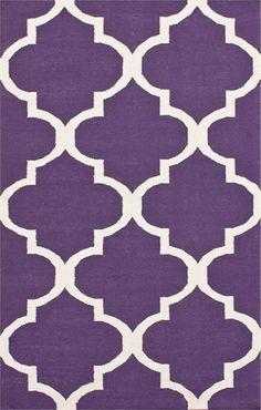 Love this Purple Trellis Rug!