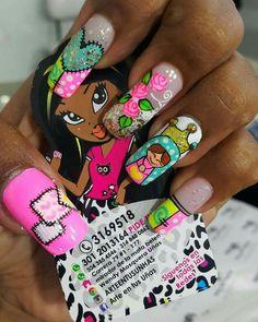 Natural Acrylic Nails, Nail Art Designs, Makeup, Nail Design, Amor, Short Nail Manicure, Nail Manicure, Drawings, Floral Decorations