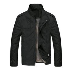 Thin Coat  Spring Men's Jackets Fashion Casual Jacket Coats Collar Slim Short Thin Coat Hot  $38.50free shipping  You save10%off the regular price of$42.99  Style: Casual  Collar: Collar  Edition type: Slim  Placket: Zipper  Whether Hooded: No hooded  Thickness: General  pattern: Plain  Suitable season: Spring Autumn Winter  Fabric name: Polyester  Main fabric composition: Polyester fibers (polyester)  Content main fabric ingredient: 100 (%)  Colour: Black  Size: XL XXL  Notes:  1 The real…