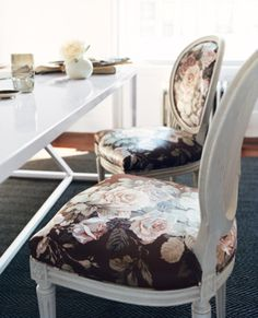 Neutrals and floral.   http://domino.com