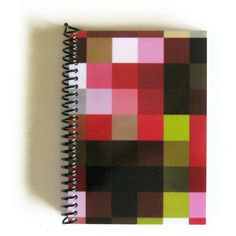 4x6 Inches Notebook, Pixels Notebook, Spiral Bound Journal, Blank... ($12) ❤ liked on Polyvore featuring home, home decor and stationery