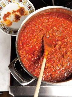 Ricardo recipe of spaghetti sauce (the best), Recipes Best Spaghetti Sauce, Homemade Spaghetti Sauce, Spaghetti Recipes, Turkey Spaghetti, Pasta Recipes, Meat Sauce Recipes, Beef Recipes, Cooking Recipes, Beef Sauce