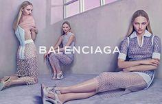 Sasha Pivovarova doubles up for Balenciaga's SS15 campaign: http://www.dazeddigital.com/fashion/article/23217/1/sasha-pivovarova-doubles-up-for-balenciagas-ss15-campaign
