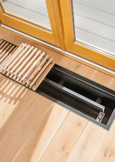 The Radiator Company - Designer Radiators - Trench underfloor Heating Floor Vent Covers, Air Vent Covers, Patio Windows, Detail Architecture, Designer Radiator, Underfloor Heating, Interior Design Companies, Heating And Cooling, Heating Systems