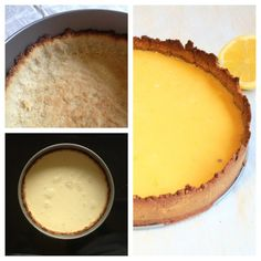 Lemon Tart with Coconut Cream (gluten dairy-free, can be made LCHF) Raw Food Recipes, Dessert Recipes, Eating Lemons, Sugar Free Baking, Protein Cookies, Coconut Cream, No Bake Desserts, Lchf, Dairy Free