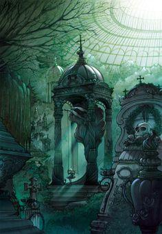 """- Illustration from my comici book """"END"""" - La dernière page de END tome 1… ( Aquarelle, encre verd , crayons colorées, + Photoshop ) © Art by Canepa & Merli"""