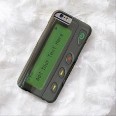 Awesome iPhone 6 Case! Personalized Funny 90s Old School Pager iPhone 6 Case. It's a completely customizable gift for you or your friends.
