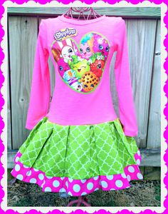7de442cfa girls Shopkins dress Apple Blossom Smart by BlossomBlueBoutique 6th  Birthday Parties, 9th Birthday, Girl