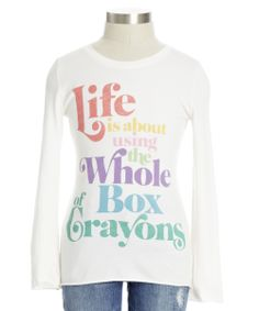Life is about using the whole box of crayons!