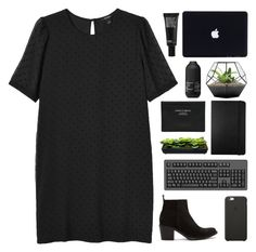 """""""i'd rather go blind than let you down"""" by acquiescence ❤ liked on Polyvore featuring Monki, Diesel, Moleskine, Acne Studios, Living Proof, Make, Black Apple, women's clothing, women and female"""
