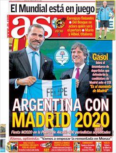 Los Titulares y Portadas de Noticias Destacadas Españolas del 6 de Septiembre de 2013 del Diario AS ¿Que le pareció esta Portada de este Diario Español?