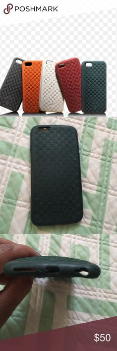 iPhone 6 Gucci rubber phone case 💯 Authentic Classic green Gucci rubber case. Normal signs of wear but still in really good condition. 💯💯💯💯 Authentic for iPhone 6 Gucci Accessories Phone Cases