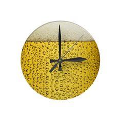 Funny Beer Oktoberfest Wall Clocks