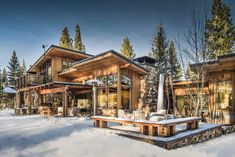 Mountain Home Exterior, Mountain Homes, Residential Architecture, Contemporary Architecture, House Architecture, Diy Interior Furniture, Carrie, Mountain Living, Mountain Modern