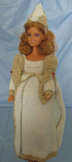 Princess Outfit for Barbie ~ FREE crochet pattern by Donna's Crochet Designs.