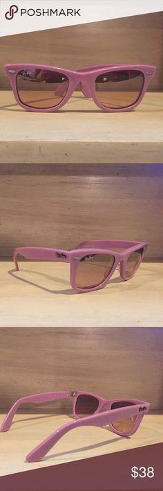UNWORN Ray-Ban Wayfarer Never been worn, real Ray-Ban light purple original Wayfarers. In great condition. Not polarized. Ray-Ban Accessories Sunglasses