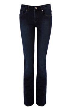 The Sexy Bootcut. Mid rise Slim bootcut in regular length. Eva is made from supersoft authentic stretch denim. It's flattering silhoutte fits like a skinny but with a subtle bootcut to elongate your legs. It features classic five pocket styling, concealed zip fly, metal button at waist, belt loops and a pressed front crease. Deep indigo wash. Also available in other washes.