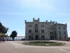 Castle Miramare, Trieste, Italy, front view Trieste, Castle, Italy, Paris, Adventure, Mansions, House Styles, Pictures, Photos