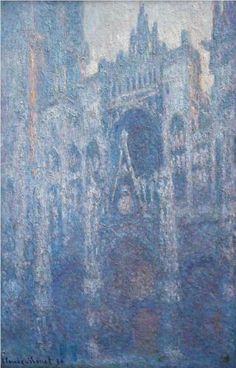 Rouen+Cathedral,+Clear+Day+-+Claude+Monet +