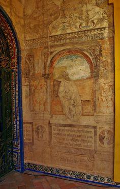 Pinturas renacentistas en la Casa de Pilatos.