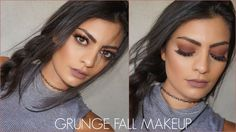 Pin for Later: 21 Grunge Makeup Tutorials That Prove the Trend Is Back Unlike some of the other makeup tutorials that rely on copper or red highlights, ReadySetGlamour uses shadows and a lip color with purple undertones. Grunge Makeup Tutorial, Fall Makeup Tutorial, Makeup Tutorials, Beauty Make-up, Beauty Hacks, Hair Beauty, Beauty Style, Beauty Secrets, Make Up Looks