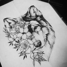 wolf tattoo - Taylor Gallagher - My list of best tattoo models Foot Tattoos, Flower Tattoos, Body Art Tattoos, Tattoo Drawings, Wing Tattoos, Eagle Tattoos, Flower Drawings, Tattoo Art, Wolf Tattoo Sleeve