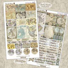World Maps Planner Stickers