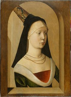 Portrait of a Woman  Netherlandish or French  Date: about 1475-80 Culture: Franco-Flemish Medium: Oil on oak panel