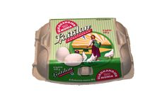 Ulkokananmunia myydään hyvin varustelluissa munahyllyissä.