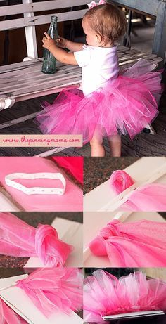 So I found the cutest no sew tutu tutorial on The Pinning Mama . It's a little lengthy so I managed to cut it down a little bit. Bu...