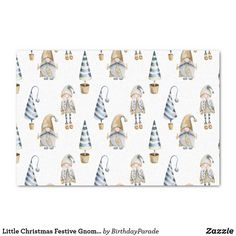 Little Christmas Festive Gnomes Tissue Paper Christmas Gift Wrapping, Christmas Gifts, Xmas, Christmas Tree, Rudolph The Red, Red Nosed Reindeer, Deck The Halls, Little Christmas, The Wiz