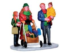 CHRISTMAS SHOPPING with MOM & DAD New 2013 LEMAX Village Family Figurine Figure